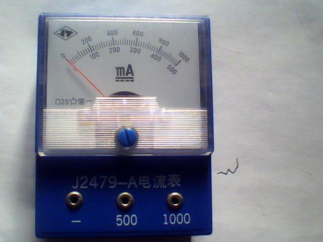 机械 老的带电流表接线板和一个试炼电流表图片